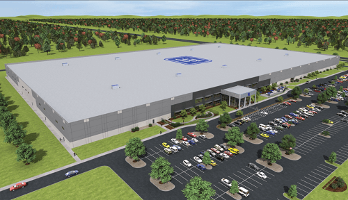 Drawing of TTI's new Fort Worth warehouse