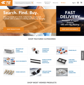 TE Adds Online Store as Part of its Digital Strategy