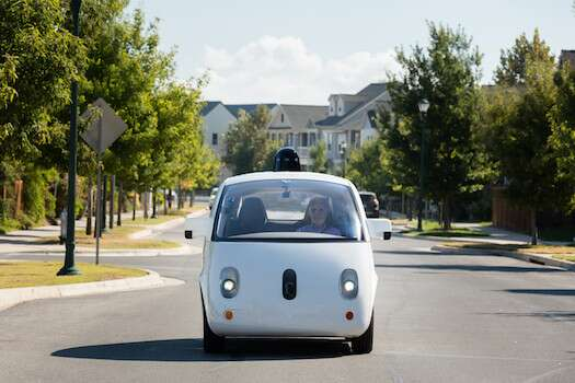 Waymo's lidar component is placed in a cone-shaped form factor on the roof of its self-driving cars, but lidarsin driverless cars of the future will be embedded in the front, back, and elsewhere in car models. Photo: Waymo.