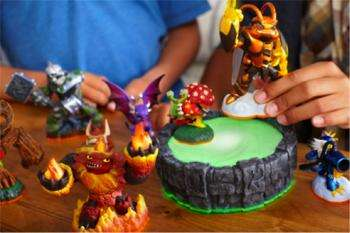 Gird for battle: Skylanders Giants characters use  near-field  communications to take game play to a new level.  (Source: www.askabout games.com)