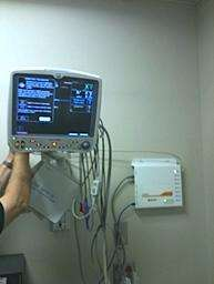 Figure 3  Nuvon Device Manager connected to a GE Dash 5000 monitor within a post-anesthesia care unit (PACU).