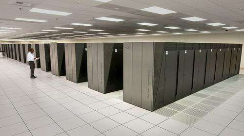 IBM Blue Gene/Q Sequoia supercomputer at Lawrence Livermore National Labs ran the winning bubble simulation.(Source: Lawrence Livermore National Labs)