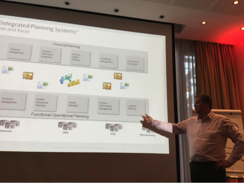 Caption: Kimmo Karppi, Solution Architect at Oracle, explains traditional vs. integrated business planning in supply chain at the Oracle Cloud Day Helsinki in March. Image Source: Susan Fourtané Traditional S&OP vs. integrated business planning