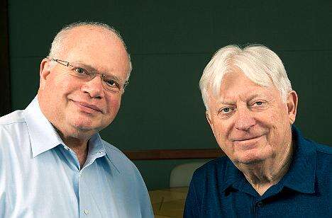 Bob Dobkin, co-founder & CTO, Linear Technology Corporation (above, left) and Bob Swanson, co-founder & executive chairman, Linear Technology Corporation (right) are ACE Awards Lifetime Achievement joint winners for 2015.