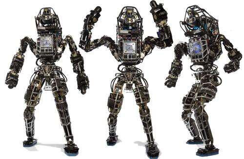 Boston Dynamics classic Atlas is a super-strong military-grade robot unlike the consumer trends toward co-robots that less intimidating and which can be safely cooperate and work alongside people without hurting them. URL: http://www.bostondynamics.com/img/Atlas-x3c.lr.jpg (Source: Boston Dynamics)