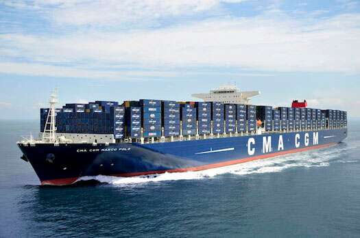 Container shipping prices are expected to increase through next year, but over capacity will likely dampen the possibility of huge price spikes. Photo courtesy: CMA-CGM